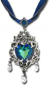 Princess Eugenie's Blue Heart Diamond pendant