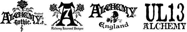 Alchemy Licensed brand logos.